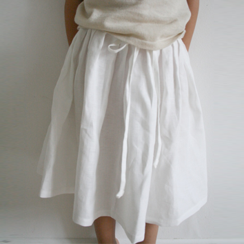 Wrapped Up:  How to Sew a Linen Skirt Tutorial