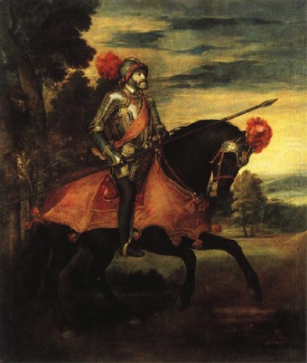 Equestrian Portrait of Charles V Titian