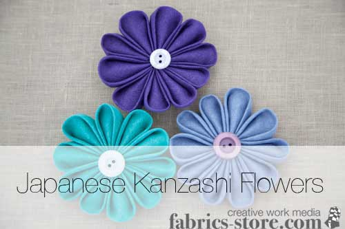 Japanese Kanzashi Fabric Flower Tutorial
