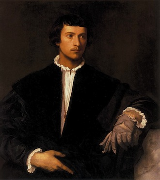 man with a glove titian