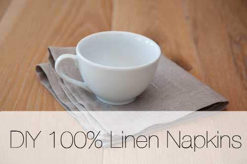 How to Make Your Own Linen Napkin.