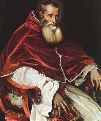 Portrait of Pope Paul III Titian
