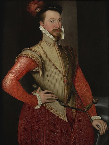 Robert Dudley Earl of Leicester attributed to Steven van Herwijck