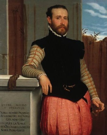 Portrait of Prospero Alessandri. Giovanni Battista Moroni. 1580.