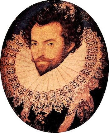 Portrait of Sir Walter Raleigh, Oval