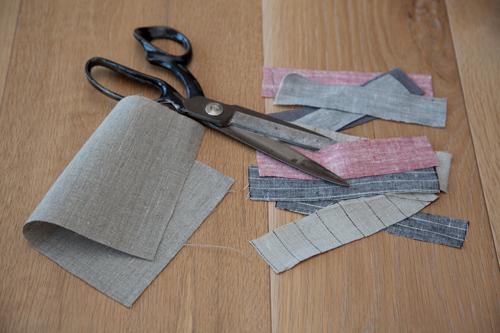 DIY Scrap Linen Potholders