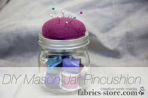 Mason Jar Pincushion