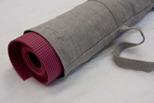 Linen Yoga Mat Bag Tutorial