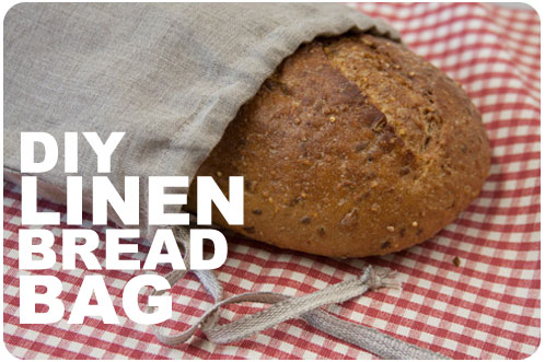 DIY Linen Bread Bag