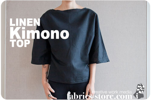 Linen Kimono Top