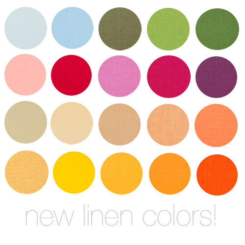 New Linen Colors