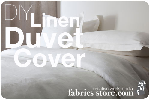 DIY Linen Duvet Cover