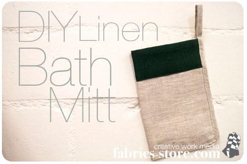 DIY: Linen Bath Mitt Tutorial