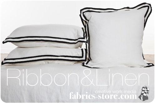 A Great Idea for Bedding: Ribbon Meets Linen!