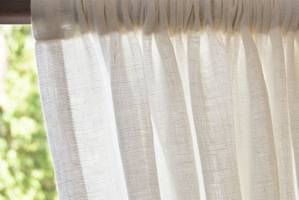 Open Weave Curtains Tutorial
