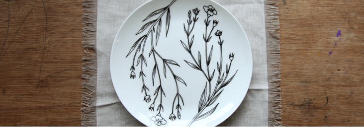 A porcelain linen love affair DIY