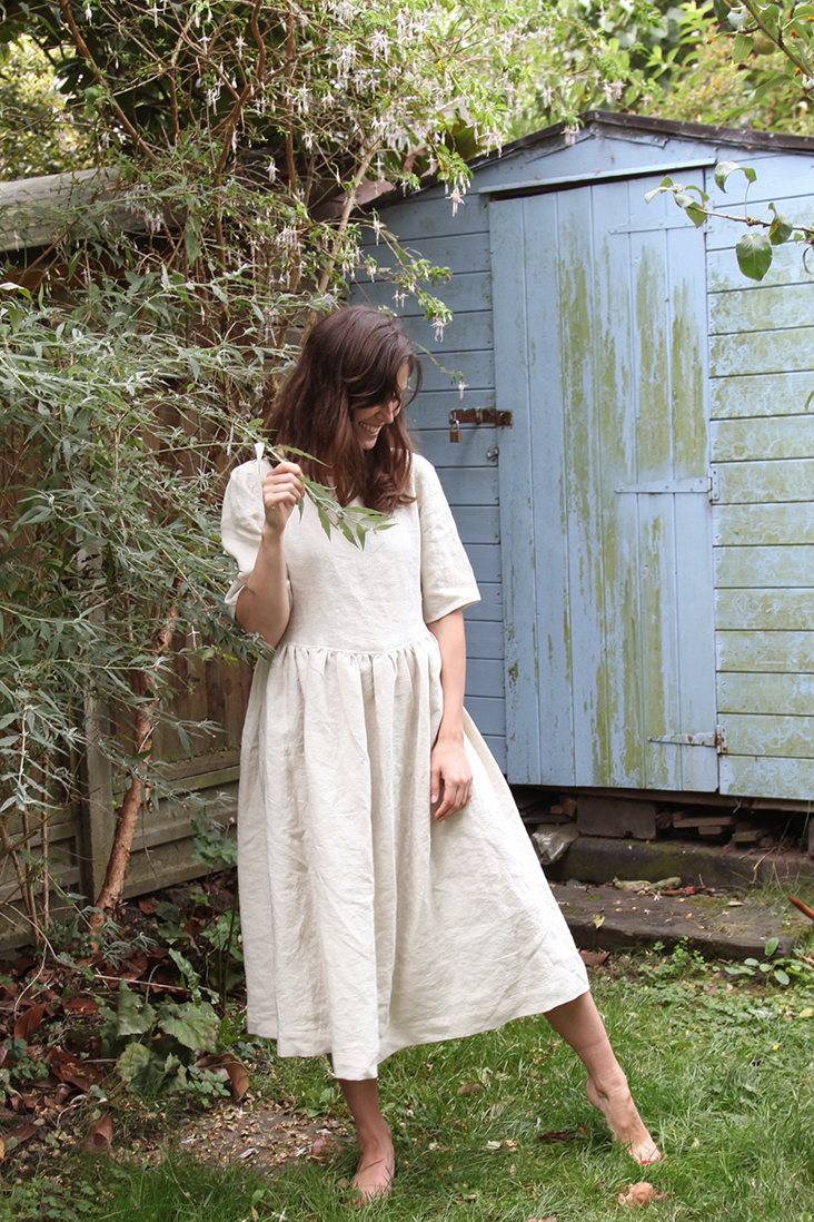 a2d83a348b477 This is a dress that really understands linen. Made with our midweight  Antique White linen fabric, this cut is simple whilst retaining a feminine  and ...
