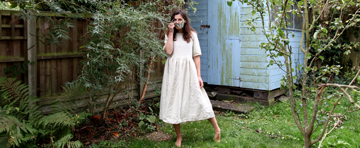 Half Sleeve Linen Dress Tutorial