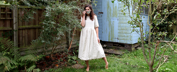 Half Sleeve Linen Dress Tutorial