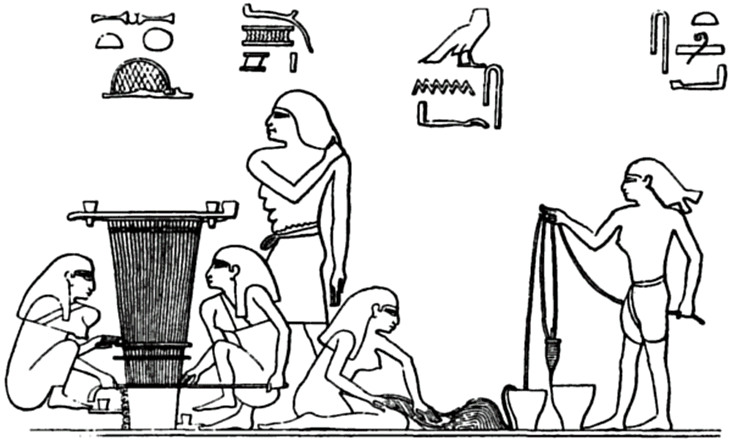 an Egyptian tomb painting