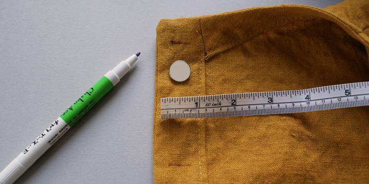 mark buttonhole width