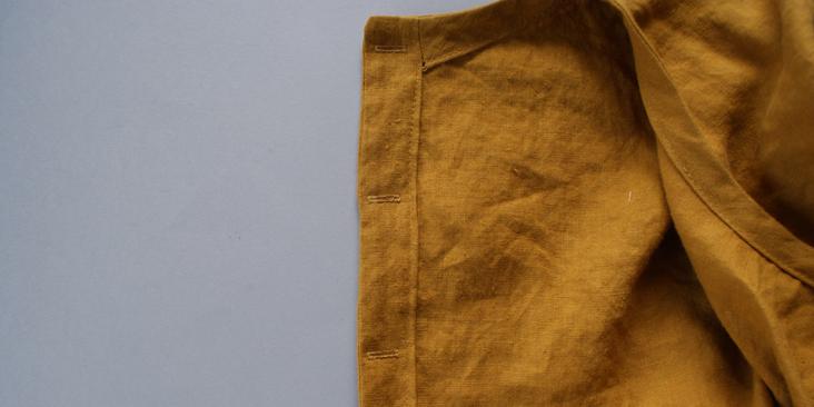 sewn buttonholes