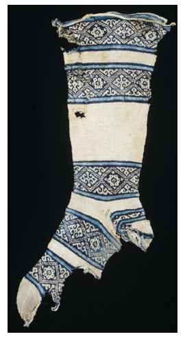 Early Islamic Sock knitted out of cotton