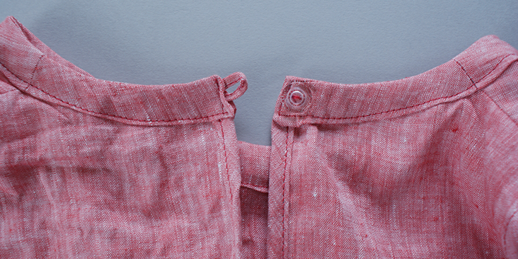button sewn
