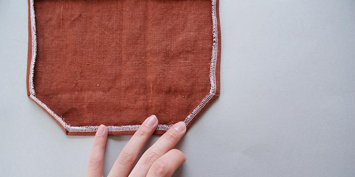pocket diagonal fold