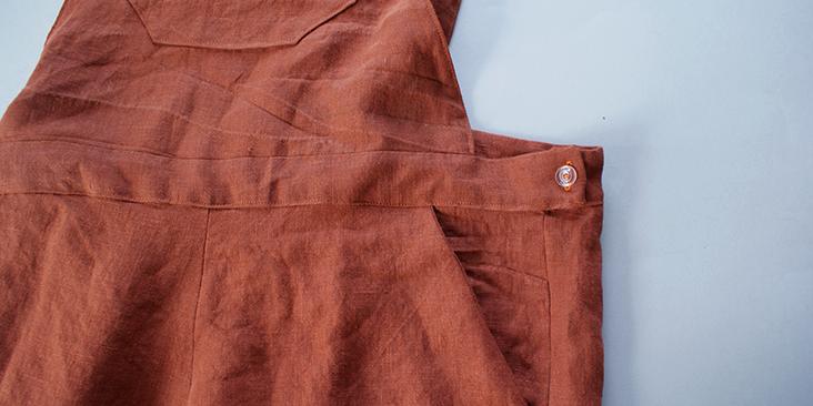 sewn on button