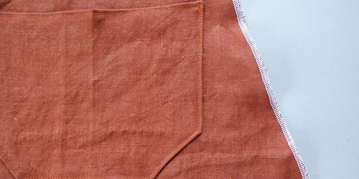 stitched on pocket