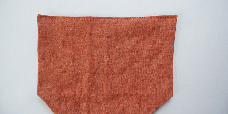 top stitched pocket