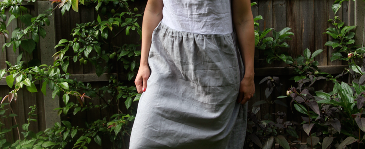 Two Tone Summer Linen Dress