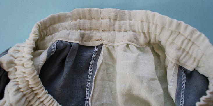 sewn waistband