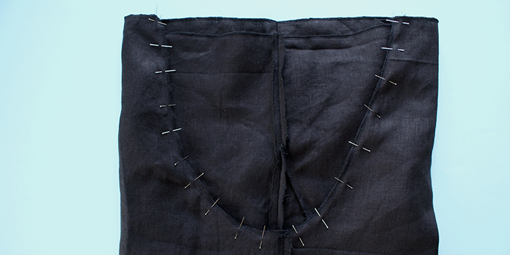 pinned bottom seam