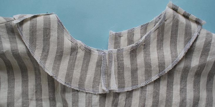 pinned collar interfacing