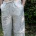 Drawstring Striped Linen Trousers