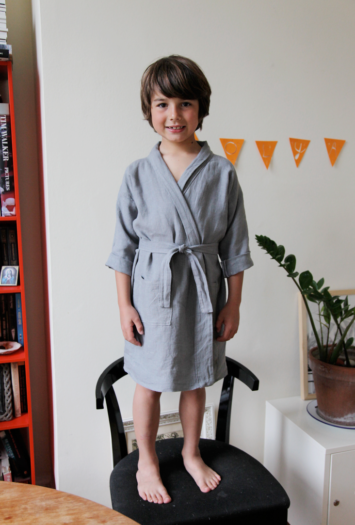Kids Linen Bathrobe Tutorial The Thread Blog
