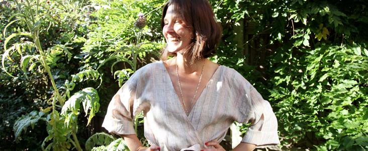 Linen Kimono Style Bathrobe Tutorial
