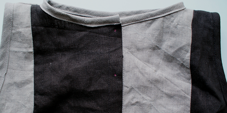 marked button holes
