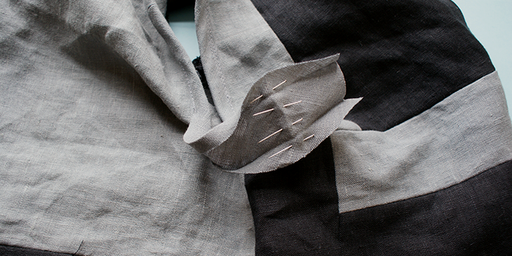 pinned folded line
