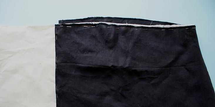 pinned skirt panels