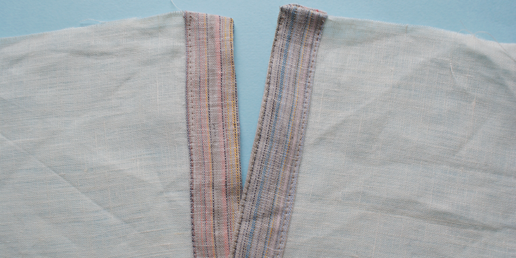 double top stitched plackets