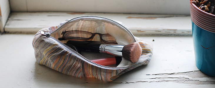 Multi Colored Make up Bag Tutorial