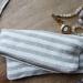 Linen Stripy Pouch Tutorial