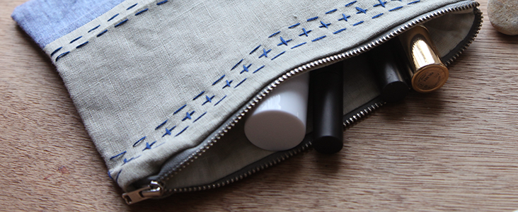 Embroidered Wash Bag Tutorial