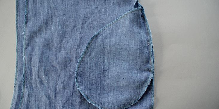 pinned back pocket