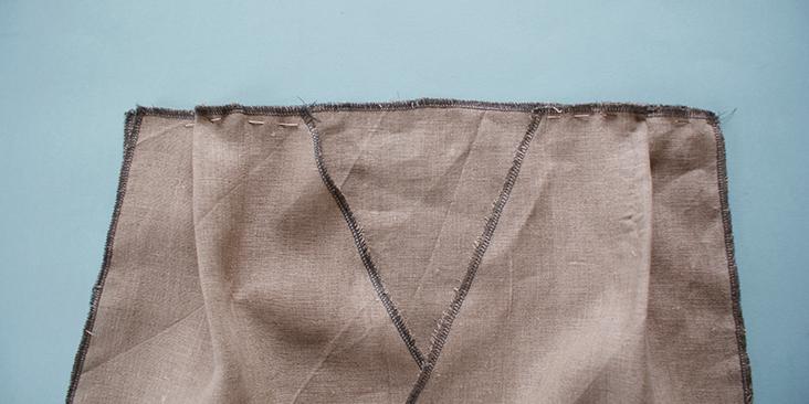 pinned shoulder seam