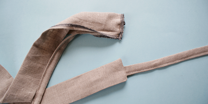 stitch strap to collar