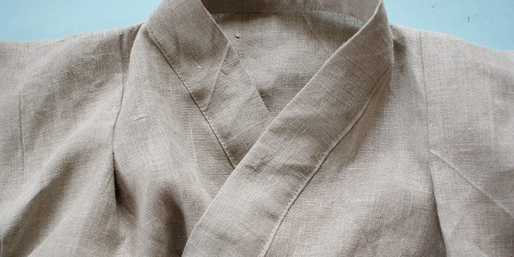 top stitched collar